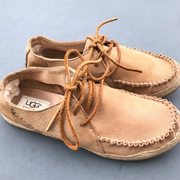 UGG Shoes | Womens Lace Up Tan Size 75